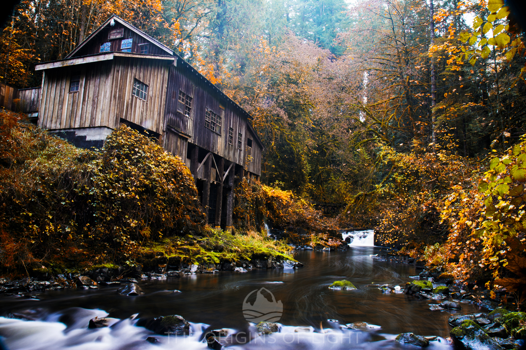 Cedar Grist Mill, Washington, in the Autumn