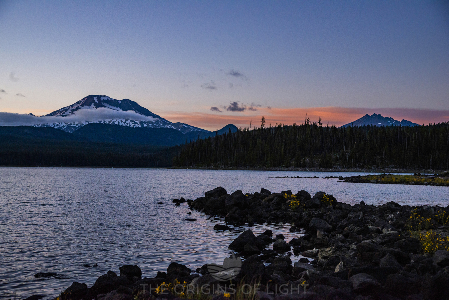 Elk Lake, Oregon, at Sunset
