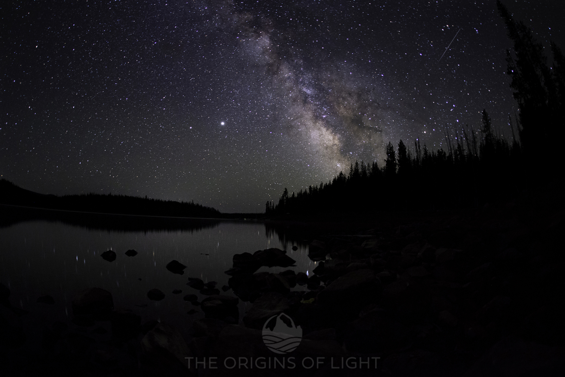 Elk Lake, Oregon, under the Milky Way