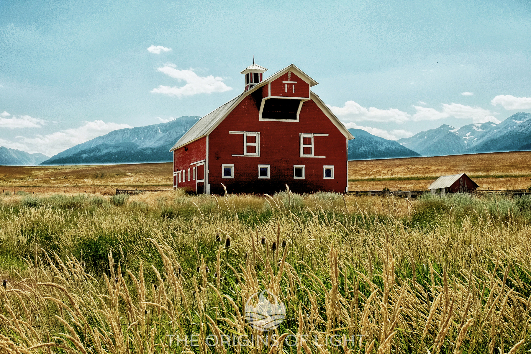 Red Barn Amongst Wheat, Joseph, Oregon
