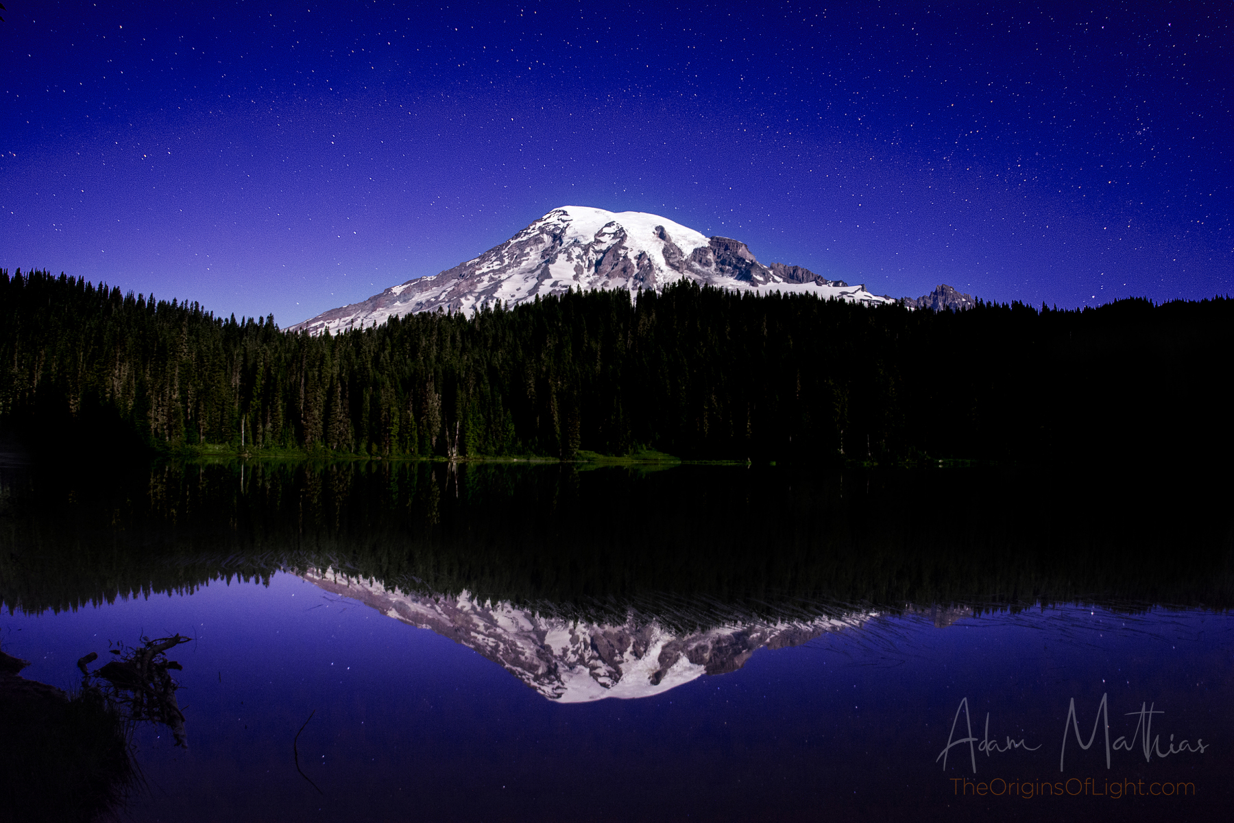 RainierStarsReflection