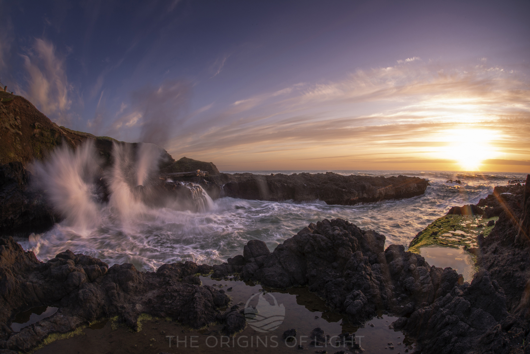 Dramatic Sunset at Cape Perpetua