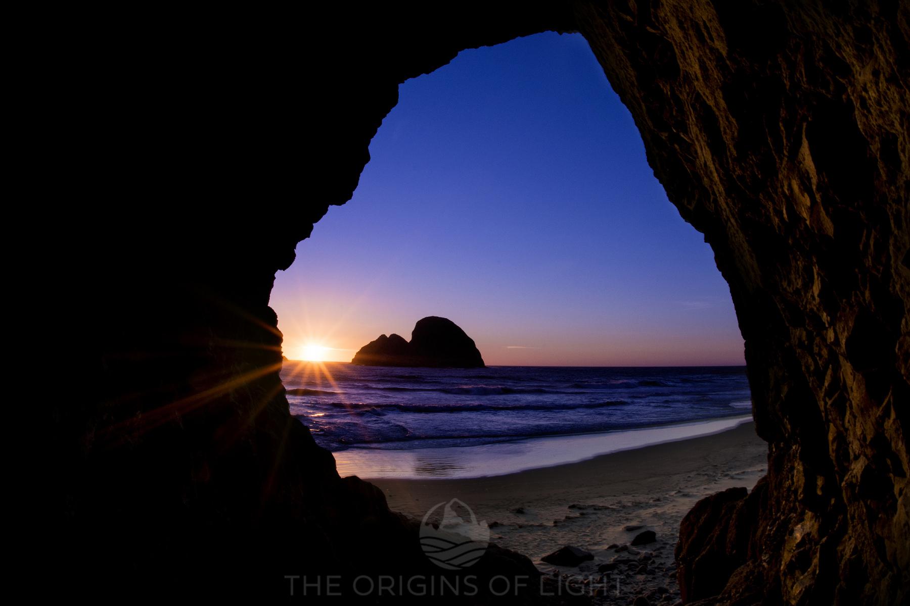 Ocean Cave Sunset