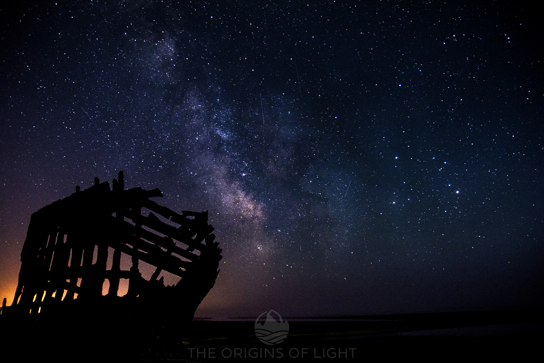 The Wreck of the Peter Iredale uner the Milky Way